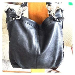 💕 Coach black leather hobo medium purse 💕